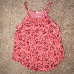 Floral Tank with Braided Detail
